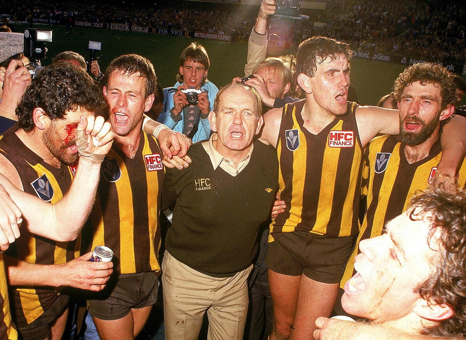 Allan Jeans with his Hawk Sausages. Pic: Getty Images