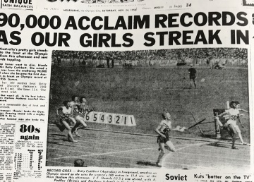 Herald Cover from the Olympic Games