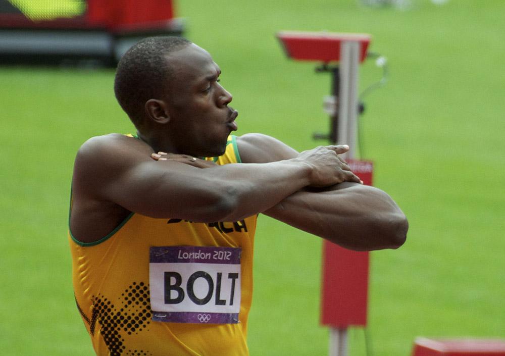 Usain Bolt at the London Olympics
