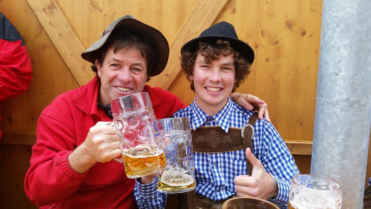 Veteran Colin Dale and first-timer Max Harris tackle Oktoberfest.