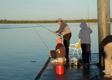 In the festive season it is common for families to fish together.