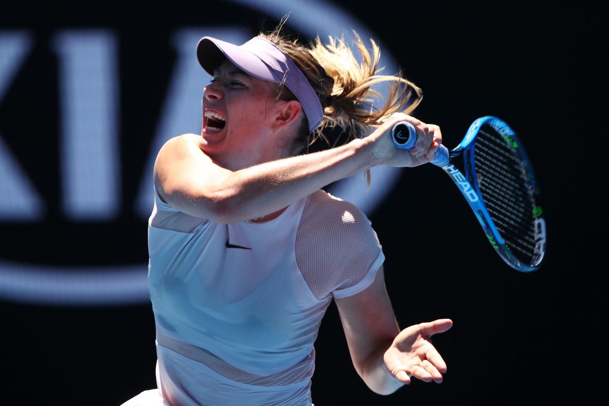The Scream Queen, Maria Sharapova. Pic: Clive Brunskill/Getty Images