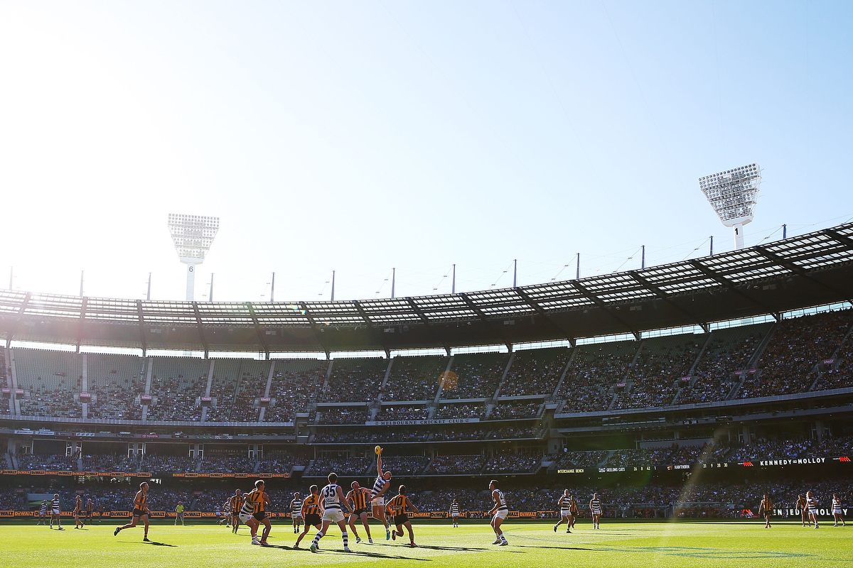 Easter Monday Football. Hawthorn v Geelong at the MCG. Pic: Michael Dodge/Getty Images