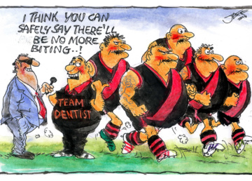 Jeff sinks his teeth into the footy news