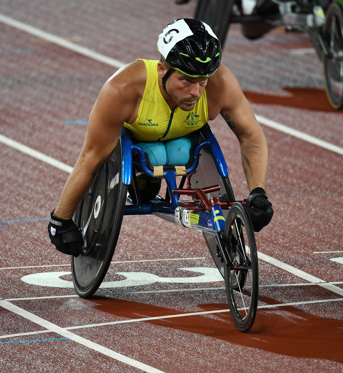 Kurt Fearnley before his 1500m race. Pic: Nick La Galle