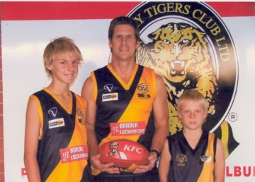 FLASHBACK: Young Charlie Spargo, right, with his brother Abe and famous father Paul Spargo.