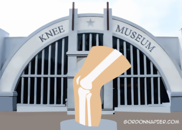 The knee Museum. Artwork Gordon Napier