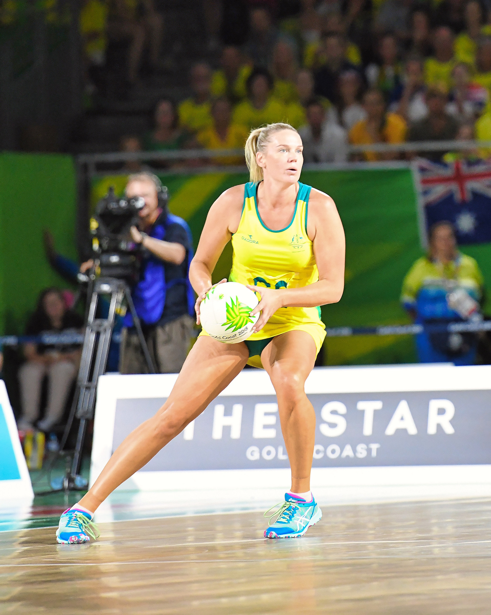 Cailtin Bassett during the 2018 Commonwealth Games. Pic: Nick La Galle