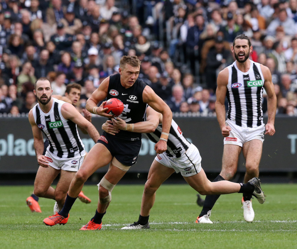 Patrick Cripps in action