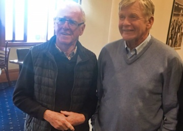 Old Bombers John Birt and Barry Davis relive the glory days.