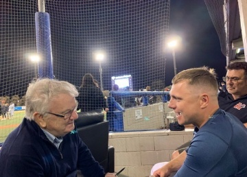 Ron Reed chats to the star of Australian baseball Luke Hughes