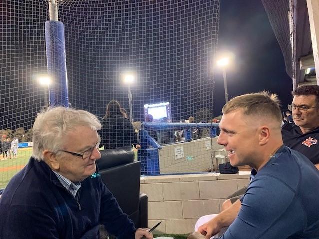 Ron Reed chats to the star of Australian baseball Luke Hughes