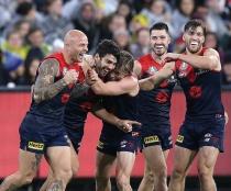 Melbourne players celebrate